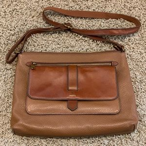 Fossil Kinley Glazed Pebble Leather Crossbody